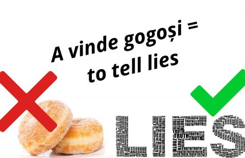 vinde gogosi = tell lies