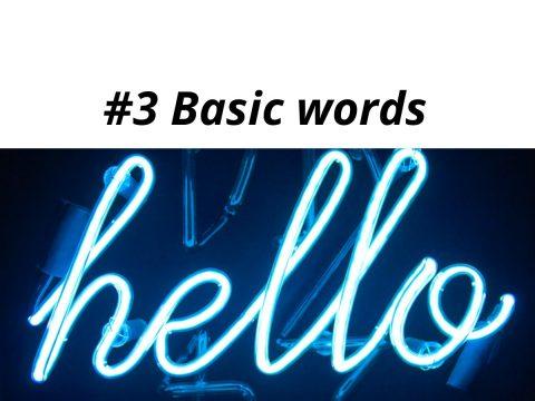 Learn Romanian basic words